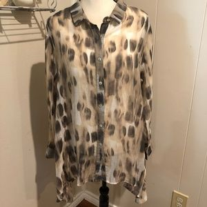 Comfy USA Print Tunic Top Size Large